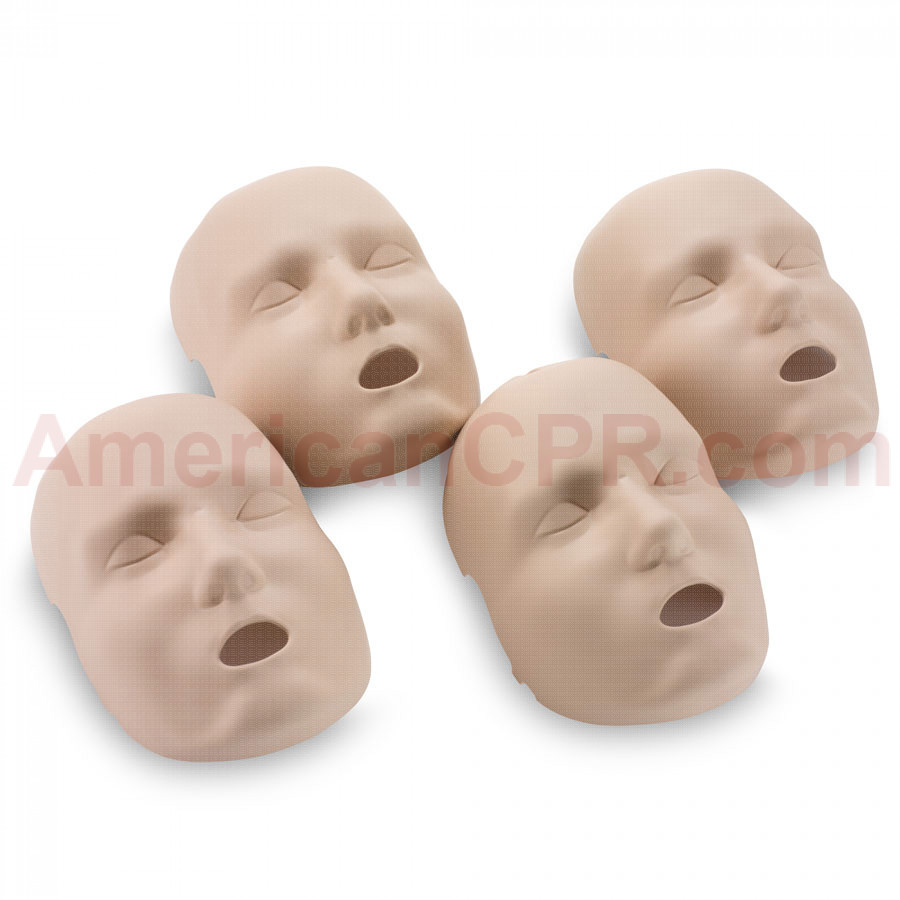 Replacement Faces for Prestan Adult Manikins - 4 Pack - Medium Skin - Prestan Products