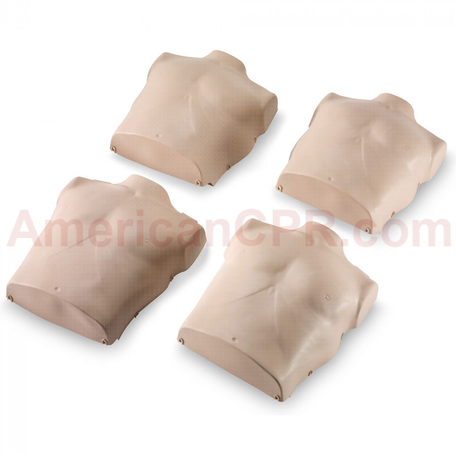 Torso Replacements for Prestan Adult Manikins - 4 Pack - Medium Skin - Prestan Products