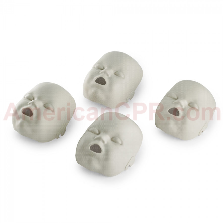Replacement Faces for Prestan Infant Manikins - 4 Pack - Light Skin - Prestan Products