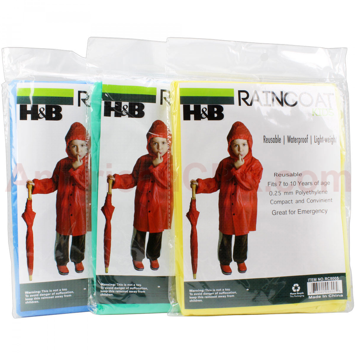 Emergency Poncho Kids Heavy Duty - Value Brand