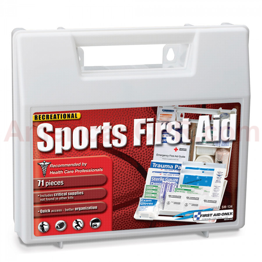 71 Piece Large Personal Sports First Aid Kit - First Aid Only