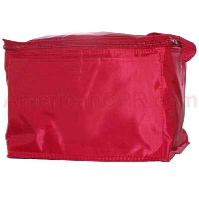 Red Vinyl Cooler Bag - Mayday