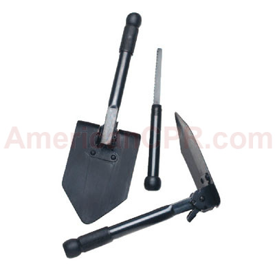 Folding Survival Shovel with Saw - Value Brand