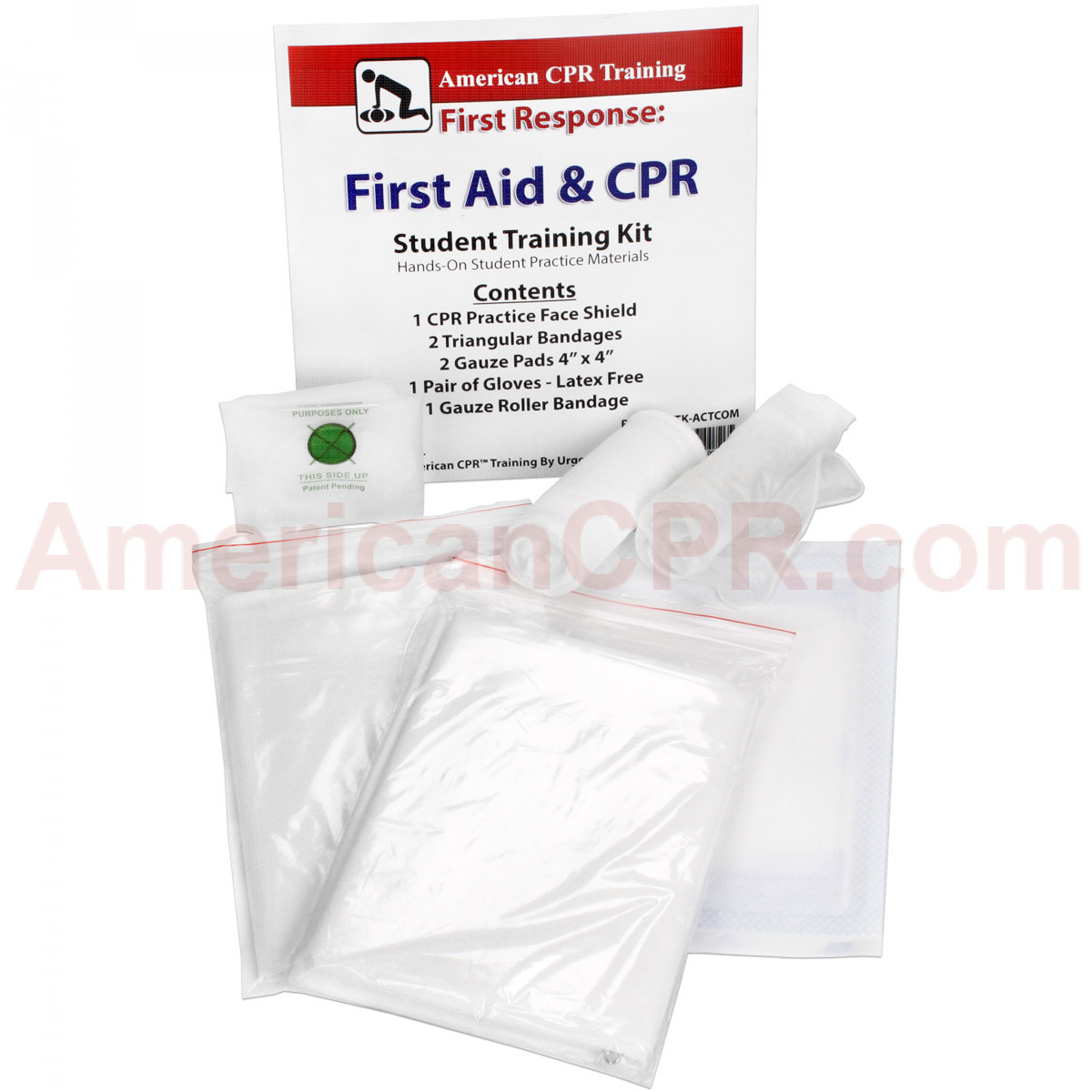CPR & First Aid Student Training Kit, 8 Pieces - American CPR Training