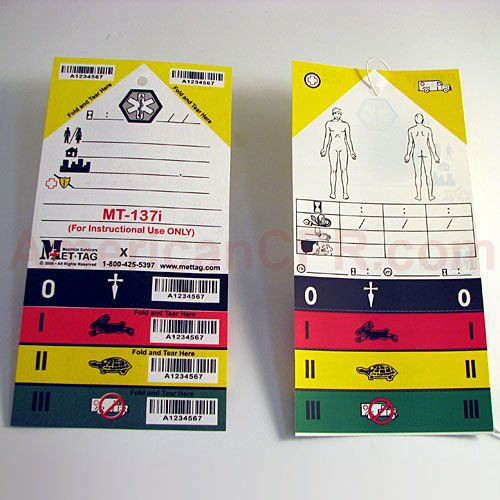 Triage Tag Pack of 50 - Value Brand