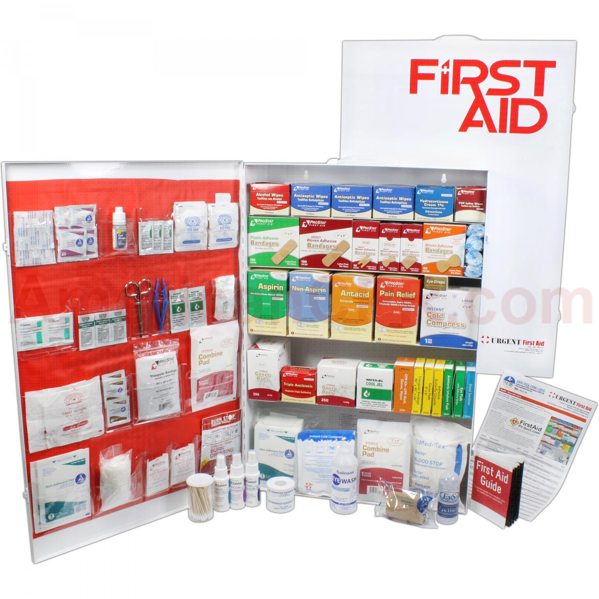 5 Shelf Industrial ANSI A+ First Aid Station, Pocketliner - 200 Person - Urgent First Aid