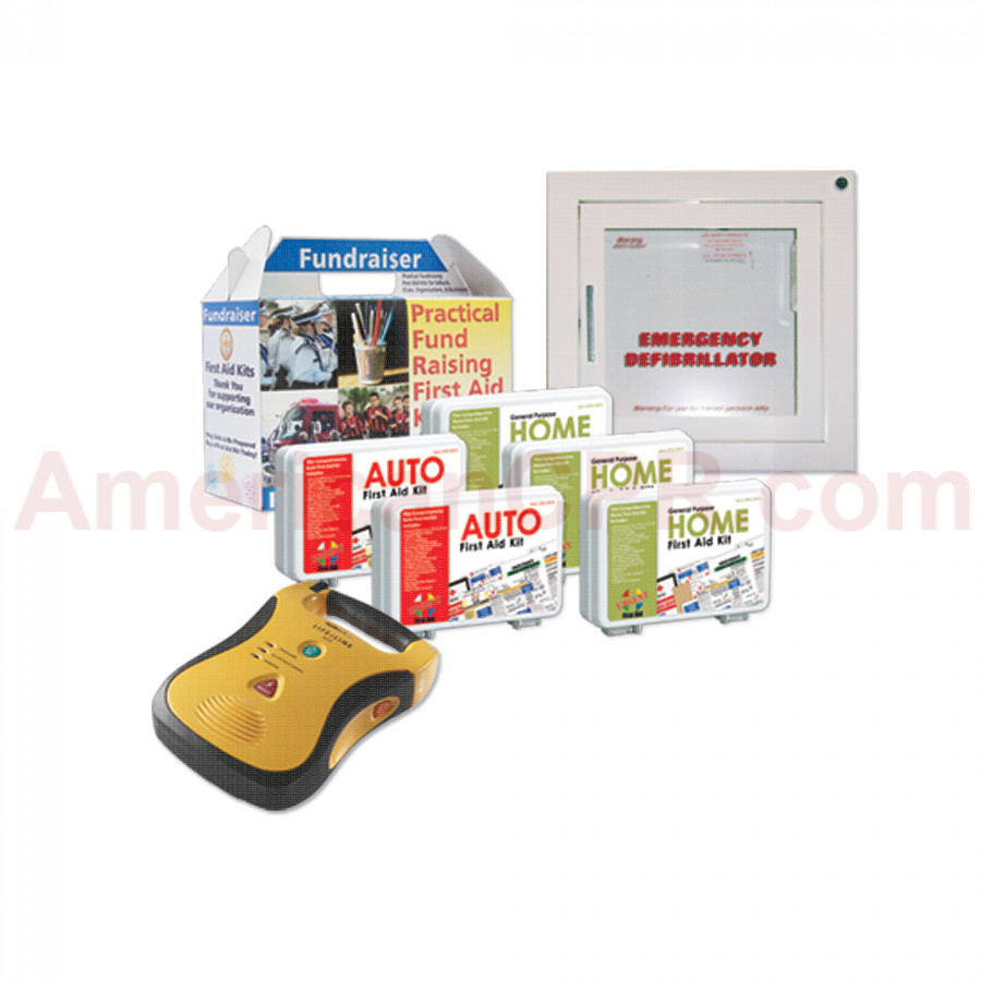 Plan D2: Mixed Fundraiser Kit Pack with AED - Urgent First aid