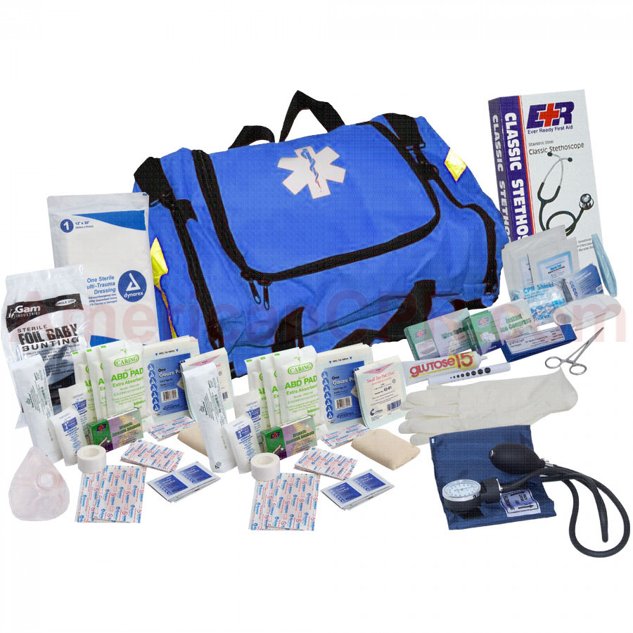First Responder Kit - 151 Pieces - Blue - Urgent First Aid
