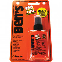 Small portable size is easy to carry, while providing enough repellent for several days on the trail. Don't Get Bitten, Get Ben's!