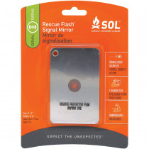 "Carded for convenient display, the Survive Outdoors Longer® Rescue Flash® Mirror is a survival ""must have"""