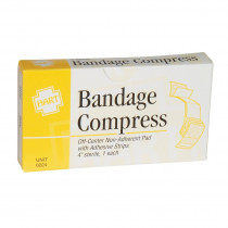 "4"" Bandage Compress, Off Center, Sterile, 1 per box, Hart Health"