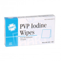 PVP Iodine Wipes, 10 per box, Hart Health