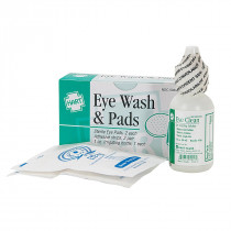 Eye Wash 1/2oz with 2 Sterile Eye Pads, Hart Health