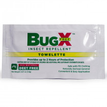 BugX FREE Natural Insect Repellent Towelette, Wallmount Dispenser, 50/Box, CoreTex Products