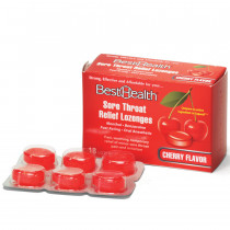 Sore Throat Lozenges Cherry/Menthol, 18/Bx, Best Health
