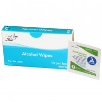 Alcohol Wipe- 10 Per Box - Prostat First Aid