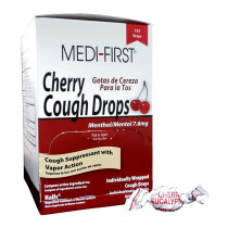 Cherry Cough Drops - 125 Per Box - Medi-First