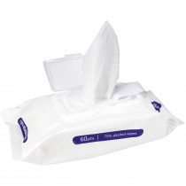 Alcohol Wipes, Large, 75% Alcohol, 60 Wipes Per Pack, MoistWipes