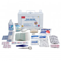 25 Person Bulk First Aid Kit w/ CPR Face Shield - First Aid Only