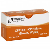 CPR KIT – CPR Mask, Gloves, Wipes, 1 Per Box, Prostat First Aid