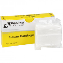 "2"" x 6 yd Sterile Gauze Bandages - 2 per box, Prostat First Aid"