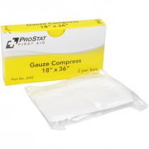 "18"" x 36"" Sterile Gauze Compress - 2 per Box, Prostat First Aid"