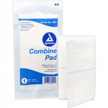 ABD Combine Pad 5 in. x 9 in. Sterile - 1 each - Prostat First Aid