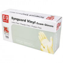 Powder Free Vinyl Exam Gloves - Extra Large - 100 Per Box - Value Brand