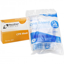 CPR Mask, One way valve, 1 per box, Prostat First Aid