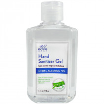 4 oz. Hand Sanitizer, 70% Isopropyl Alcohol, Clear Bottle, Intco