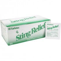 Sting Relief Wipes, 150 per box, Safetec