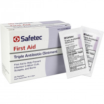 Triple Antibiotic .9gm. Pouch, 25 per box, Safetec