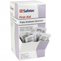 Triple Antibiotic .9gm. Pouch, 144 per box, Safetec