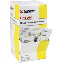 Single Antibiotic (Bacitracin) .9gm. Pouch, 144 per box, Safetec