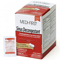 Sinus Decongestant, 250/box, Medi-First