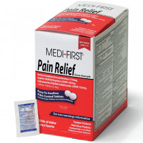 Pain Relief, 500/box, Medi-First