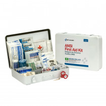 50 Person First Aid Kit, ANSI B,  Metal Case, Weatherproof -  First Aid Only