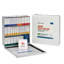 54 Unit First Aid Kit, ANSI B,  Metal Case -  First Aid Only