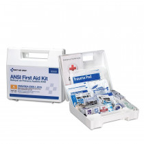25 Person First Aid Kit, ANSI A, Plastic Case with Dividers -  First Aid Only