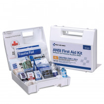 25 Person First Aid Kit, ANSI A+, Plastic Case with Dividers -  First Aid Only