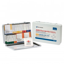 36 Unit First Aid Kit, ANSI A+ with BBP,  Metal Case -  First Aid Only