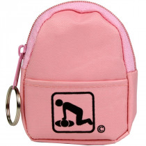 CPR Pink BeltLoop/KeyChain BackPack: Shield-Gloves-Wipe - American CPR Training