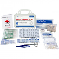 Bilingual Contractor's First Aid Kit, 10 Person - First Aid Only