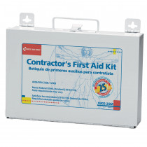 Bilingual Contractor's First Aid Kit, 25 Person, Metal - First Aid Only