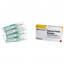 "Adhesive Bandage - Plastic - 3/4"" - 16 per box - Pac-Kit by First Aid Only"