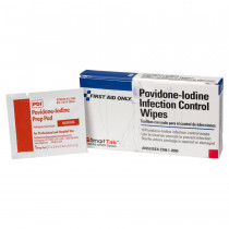 Povidone-Iodine Infection Control Wipe - 10 Per Box - Pac-Kit by First Aid Only