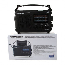 The Kaito Voyager - Solar & Crank Weather Alert Radio - Mayday