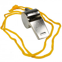 Metal Whistle with Lanyard - Value Brand