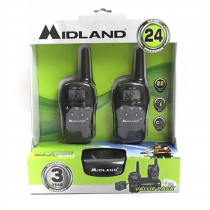 Midland Walkie Talkie Radios (Pair) - 24 Mile - 22 Channel - Mayday