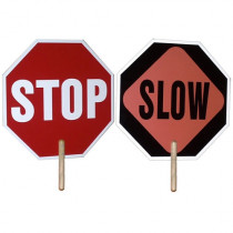 Hand Held Stop / Slow Sign - 2 Sided - Mayday